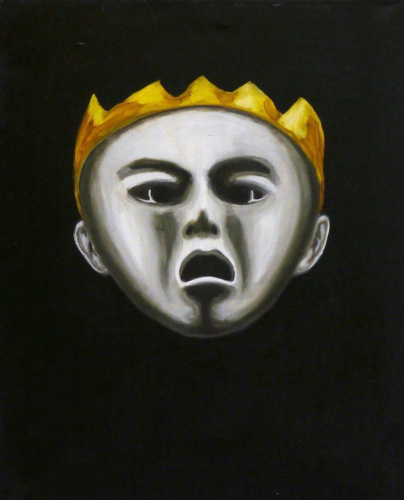 Ölbild mit Kopf
